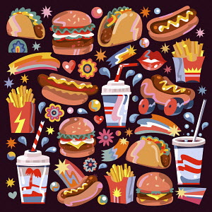 Lots of different fast food