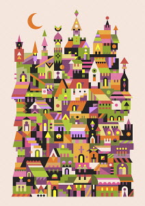 Abstract townscape pattern