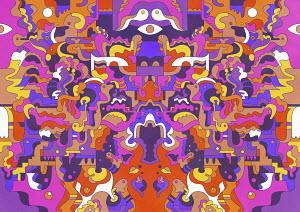Symmetrical psychedelic pattern