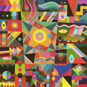Vibrant geometric abstract pattern