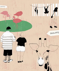 People at zoo