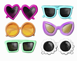 Range of fun sunglasses
