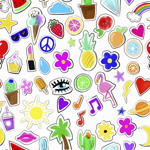 Teenage girl's stickers
