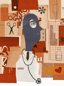 Doctor and healthcare collage
