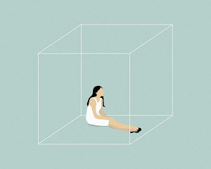 Woman trapped in box