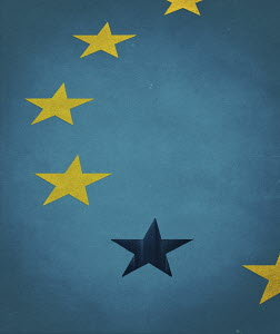 Missing star from European Union flag