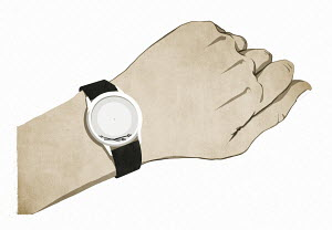 Wrist watch with broken hands