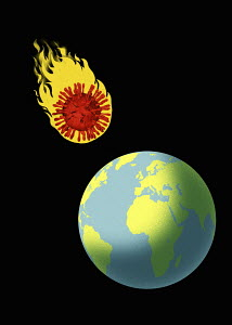 Coronavirus meteor heading for earth