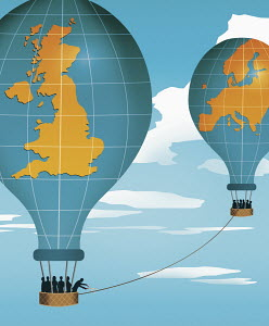UK hot air balloon cutting ties with Europe