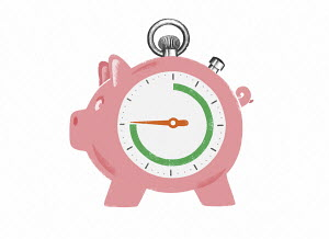 Time running out on anxious piggy bank