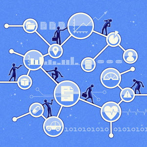 People using network of services online