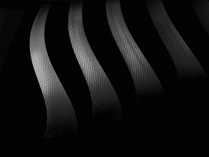 Abstract monochrome curved mesh stripes