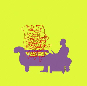 Tangled lines on psychiatrist's couch