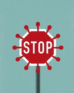 Coronavirus stop sign