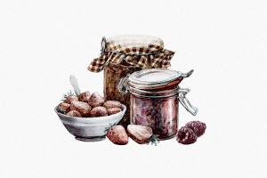 Home made raspberry and strawberry jam