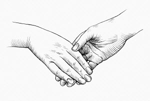 Close up of weak handshake