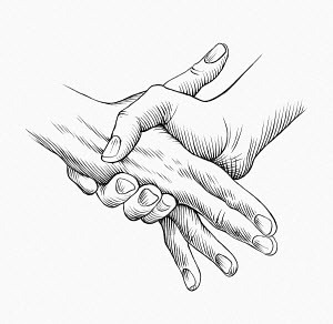 Close up of knuckle crushing handshake