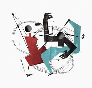 Couple dancing energetically