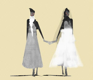 Two women getting married