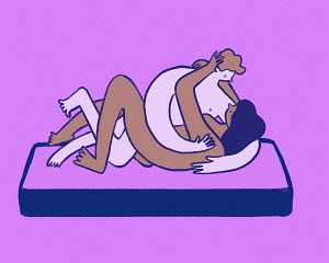 Illustration of couple making love