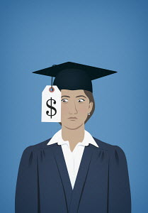 University graduate unhappy at cost of education