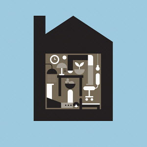 Geometric graphic of living in lockdown