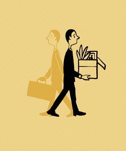 Businessman losing job