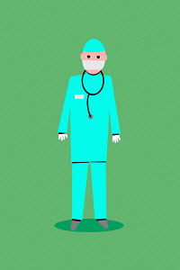 Doctor wearing personal protective equipment