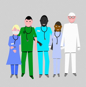 Group of healthcare key workers