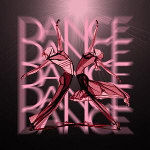 Symmetrical dancers elegantly balanced