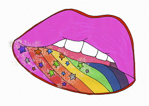 Psychedelic lips