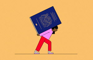 Woman struggling under burden of British passport