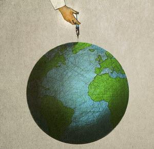 Hand injecting globe