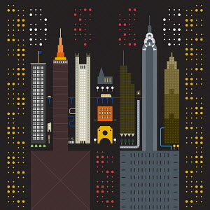 Geometric graphic of New York City buildings