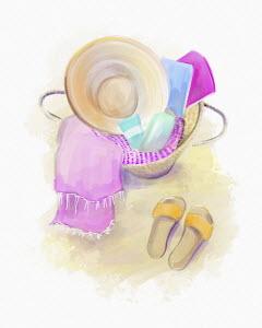 Feminine beach accessories
