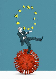European Union businessman struggling on rolling coronavirus