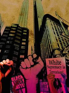 Black Lives Matter demonstration in city