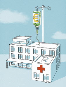 Hospital receiving infusion of euros