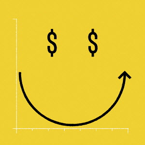 Smiley face dollar graph