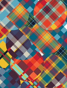 Abstract tartan pattern