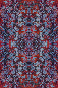 Abstract intricate kaleidoscope pattern