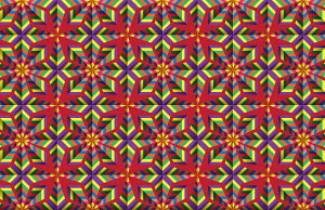 Colourful symmetrical mosaic pattern