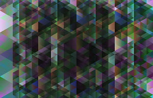 Dark abstract three dimensional geometric pattern