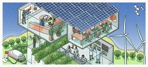 Cutaway of green business