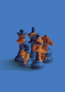 Global chess pieces