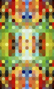Colourful full frame abstract pattern
