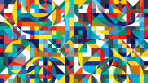 Colourful geometric abstract mosaic pattern