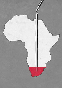 Drinking straw emptying Africa