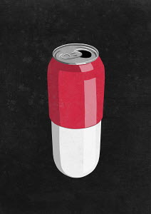 Drink can as pill capsule