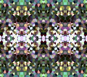 Symmetrical abstract mosaic pattern